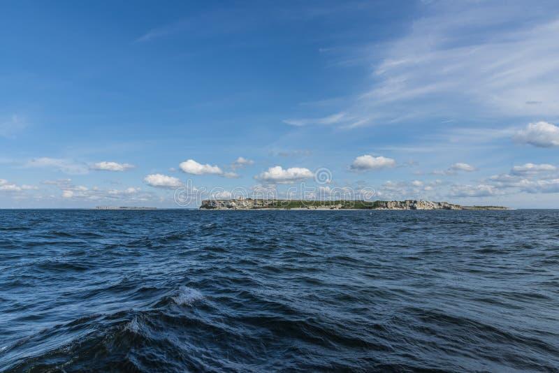 Stora Karlsö y mar Báltico Suecia de Lilla Karlsö fotos de archivo