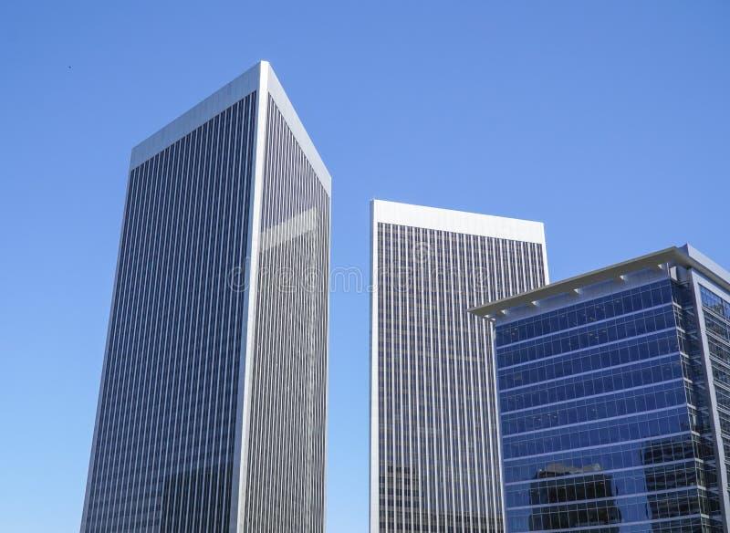 Stora kontorsbyggnader i Beverly Hills - LOS ANGELES - KALIFORNIEN - APRIL 20, 2017 royaltyfri bild