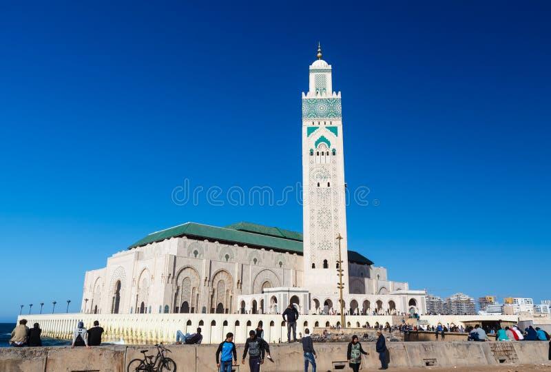 Stora Mosquee Hassan II arkivfoton