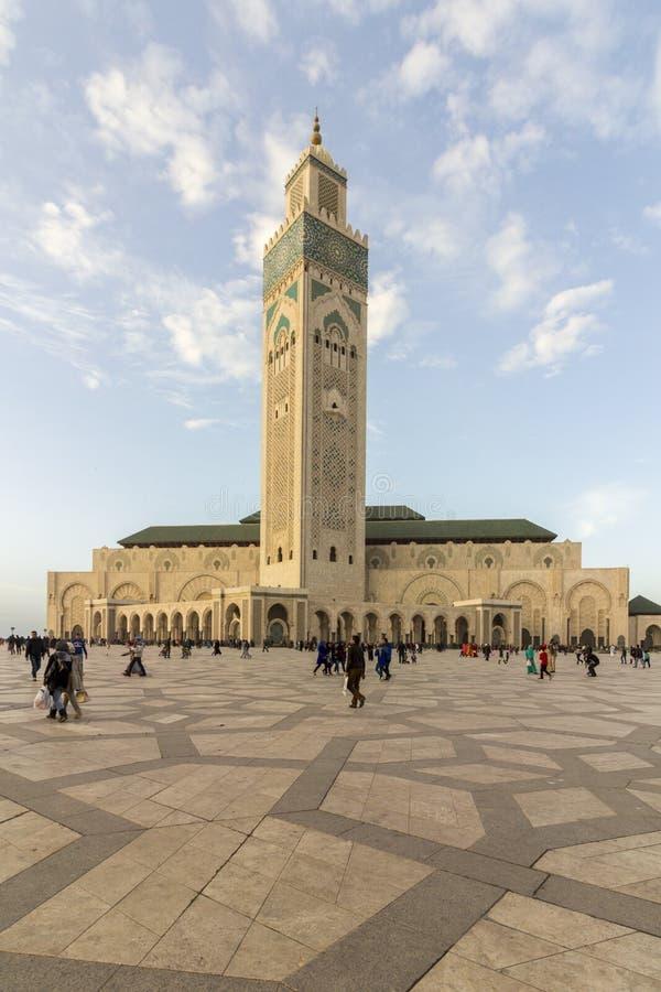 Stora Mosquee Hassan II i Casablanca arkivfoton
