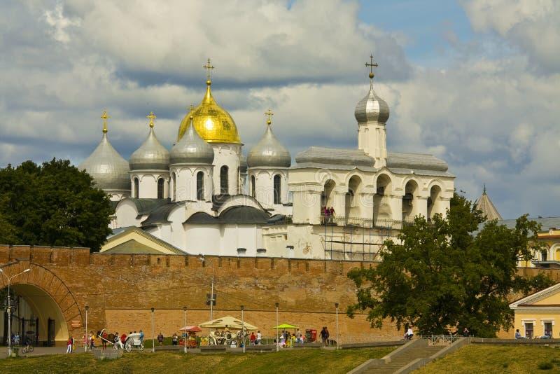 Stora Novgorod, helgonSophia (Sofia) domkyrka royaltyfri fotografi