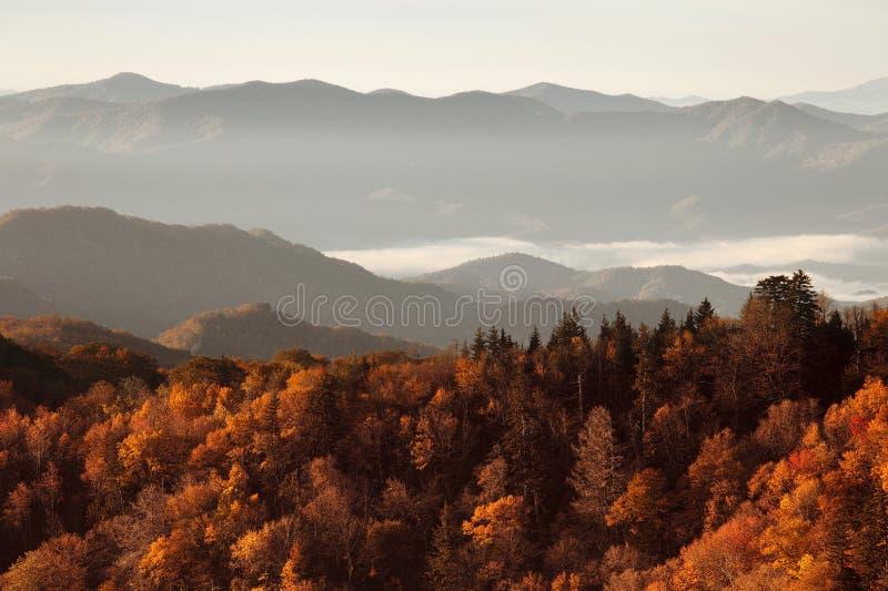 Stor rökig bergnationalpark fotografering för bildbyråer