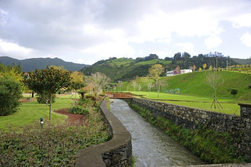 Stora Ribeira, Sao Miguel, Azores royaltyfri foto