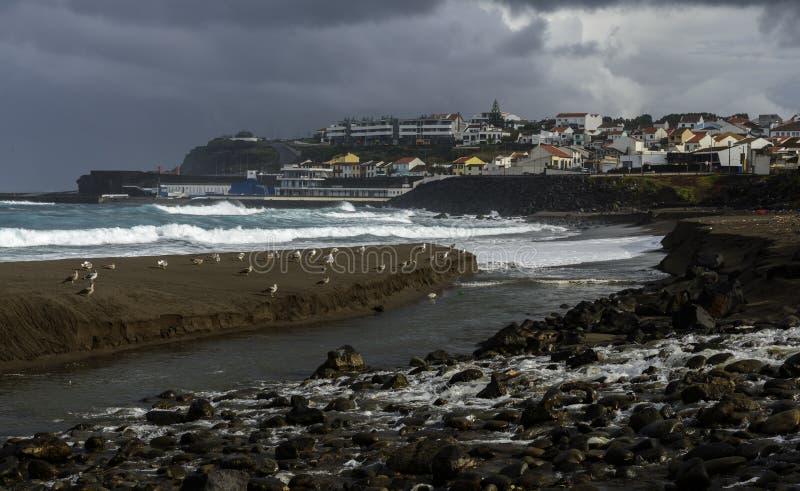 Stora Ribeira, SaoMiguel ö, Azores skärgård (Portugal) royaltyfria bilder