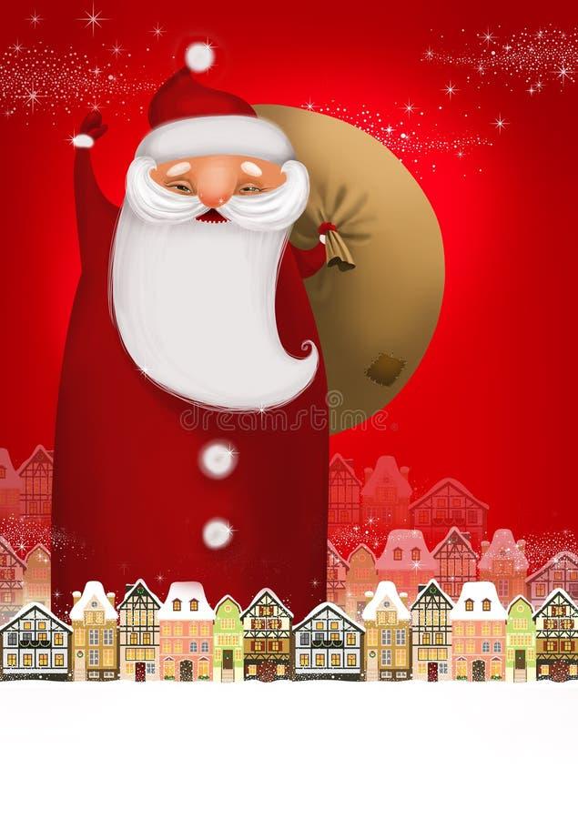Stora Santa stock illustrationer
