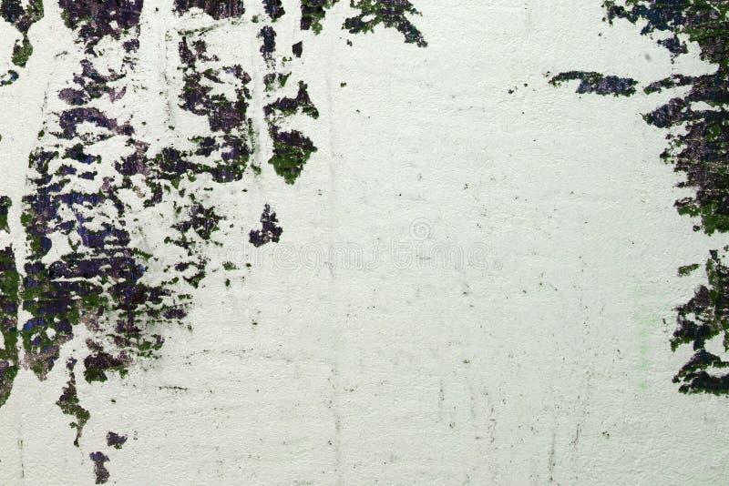 Stora sjaskiga skador på stuckaturen texturerar ombord - underbar abstrakt fotobakgrund royaltyfria bilder