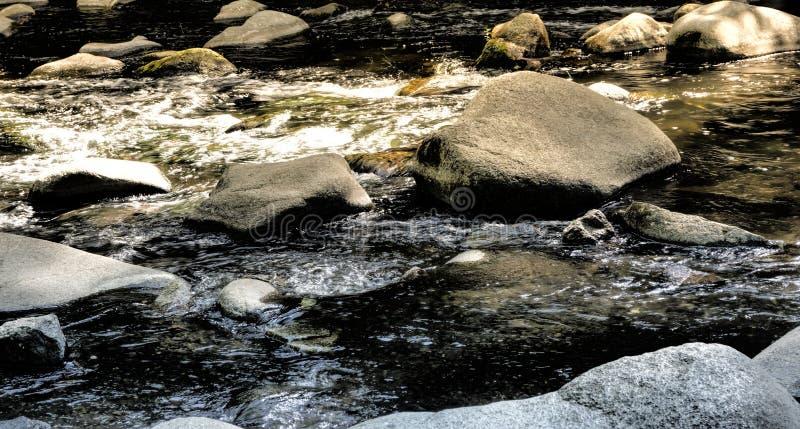 Stora stenar, stenblock och stenblock i som bidas nära Thale, som ställen för, vilar, begrundande och meditationen arkivbild