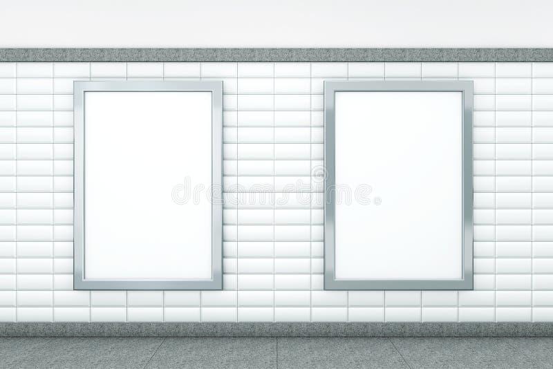 Stora tomma vertikala affischer framförande 3d royaltyfri illustrationer