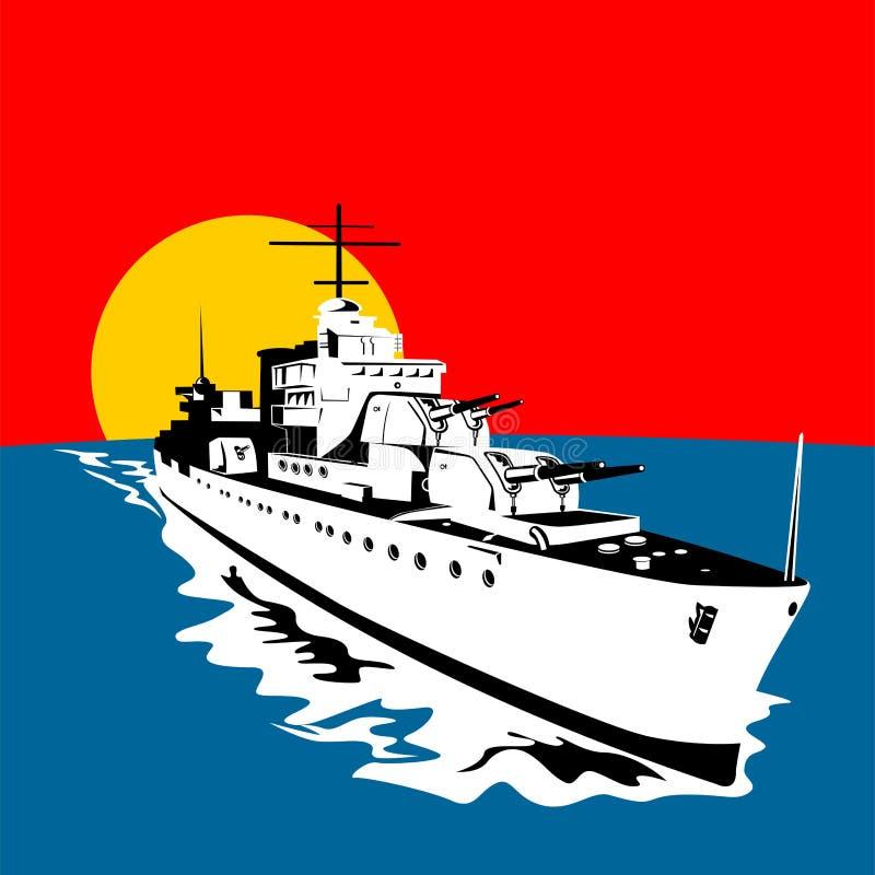 stora trycksprutor för slagskepp royaltyfri illustrationer