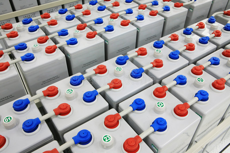 The storage battery royalty free stock photography