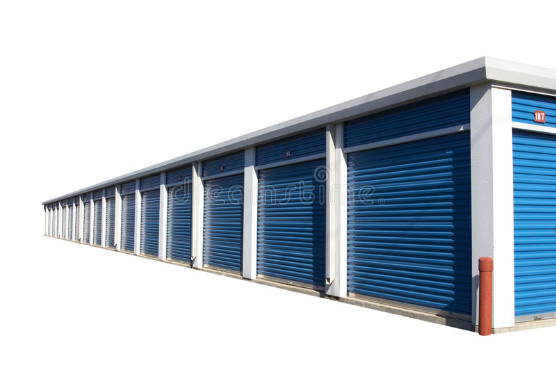 Storage Building. Isolate storage building royalty free stock photo
