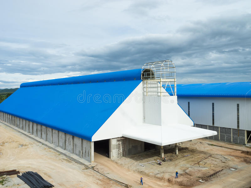 Storage building. On sugar industry royalty free stock photo