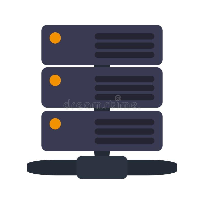 Storage database servers royalty free illustration