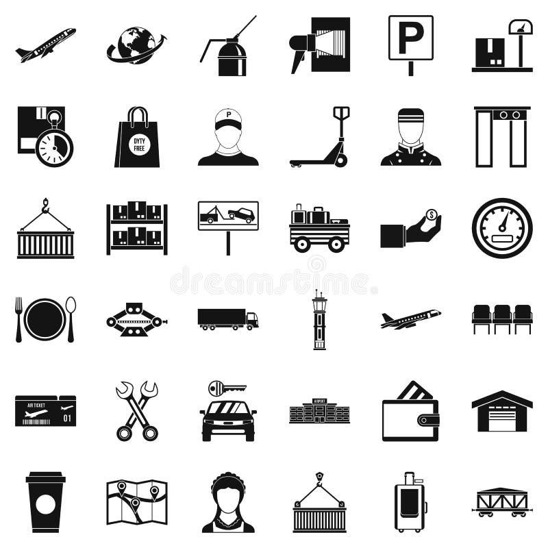 Storage icons set, simple style. Storage icons set. Simple style of 36 storage vector icons for web isolated on white background royalty free illustration