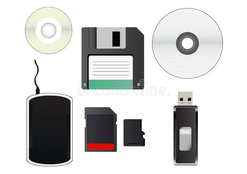 Download Storage media stock vector. Illustration of icon, digital - 37717211
