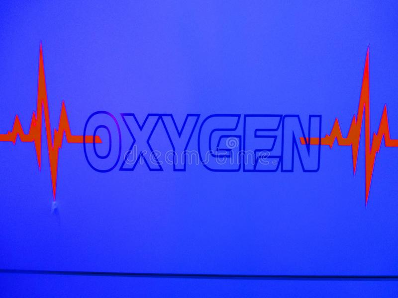 A storage for medical oxygen royalty free stock images