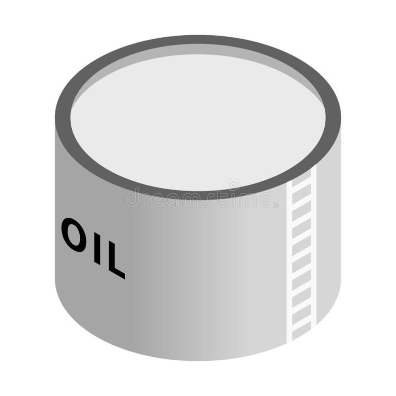 Storage oil tank isometric 3d icon. Single illustration isolated on a white background stock illustration
