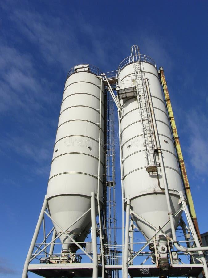 Storage silos royalty free stock photos