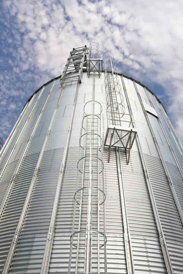 Storage silos. For agricultural (cereal) products royalty free stock photo