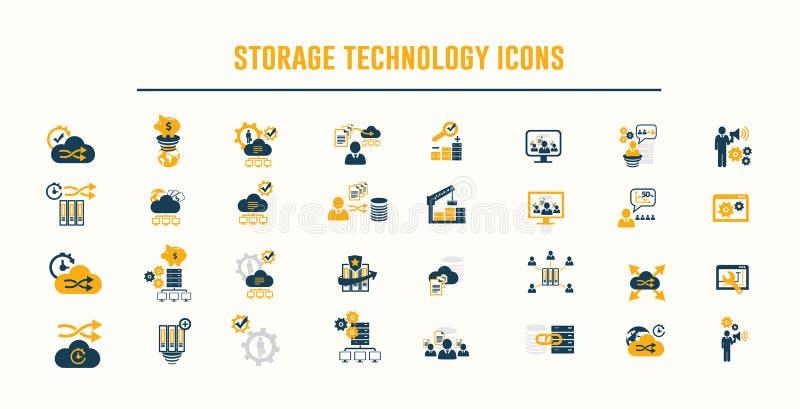 Storage Technology Ikonenvektor lizenzfreie abbildung
