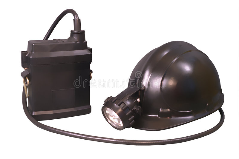 Download Storage Torch And Helmet For Miner And Lifeguards Royalty Free Stock Photo - Image: 1712125