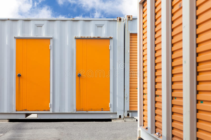 storage unit or small warehouse for rental stock images