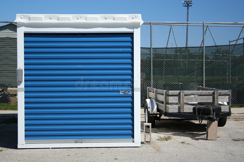Storage Unit and Trailer royalty free stock images