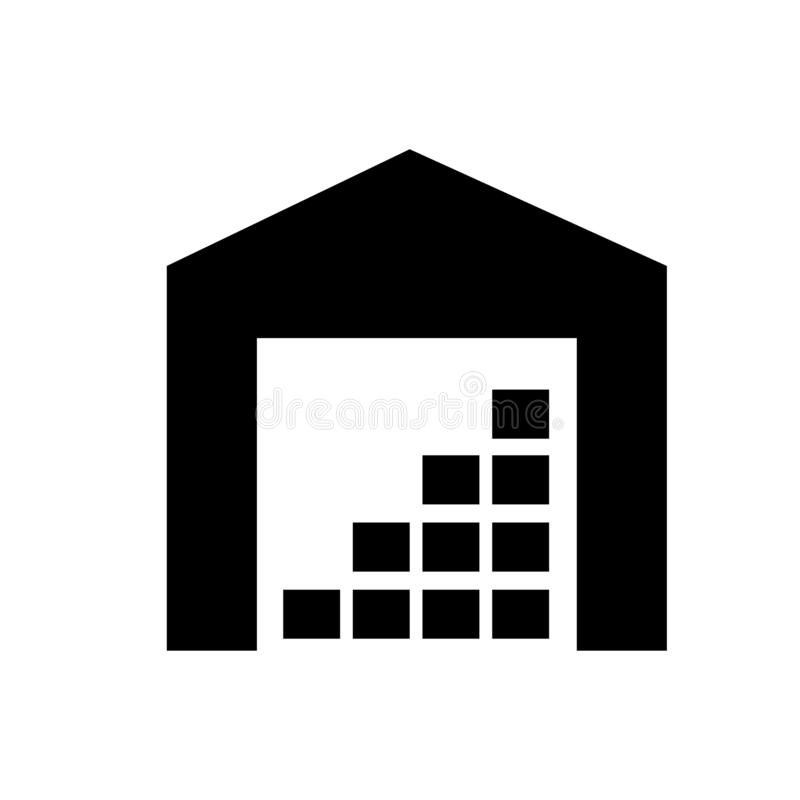 Storage vector icon. hangar illustration symbol or sign. vector illustration