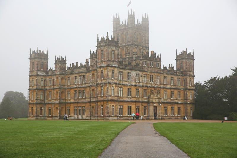 Storartad Highclere slott i England arkivfoton