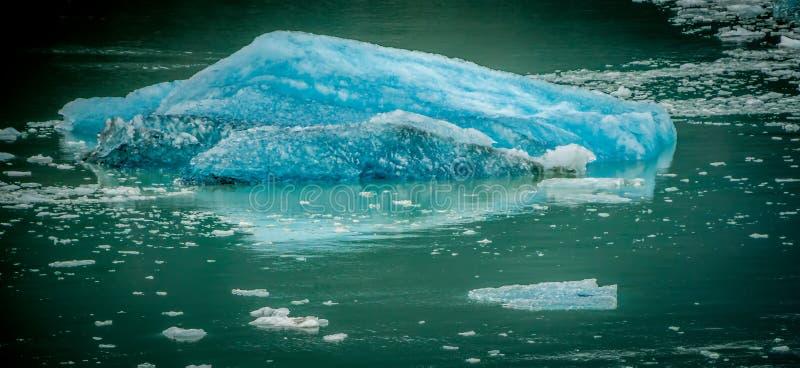 Storartade Sawyer Glacier på spetsen av Tracy Arm Fjord royaltyfri foto