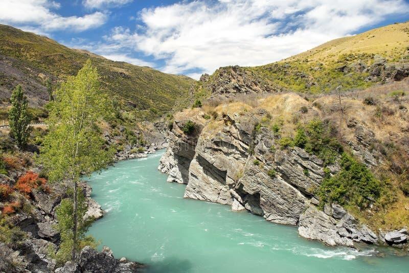 Storartat sagolikt landskap i Nya Zeeland arkivfoto