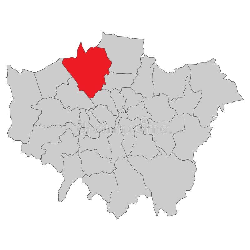 Storbritannien - översikt av London - högt detaljerat royaltyfri illustrationer