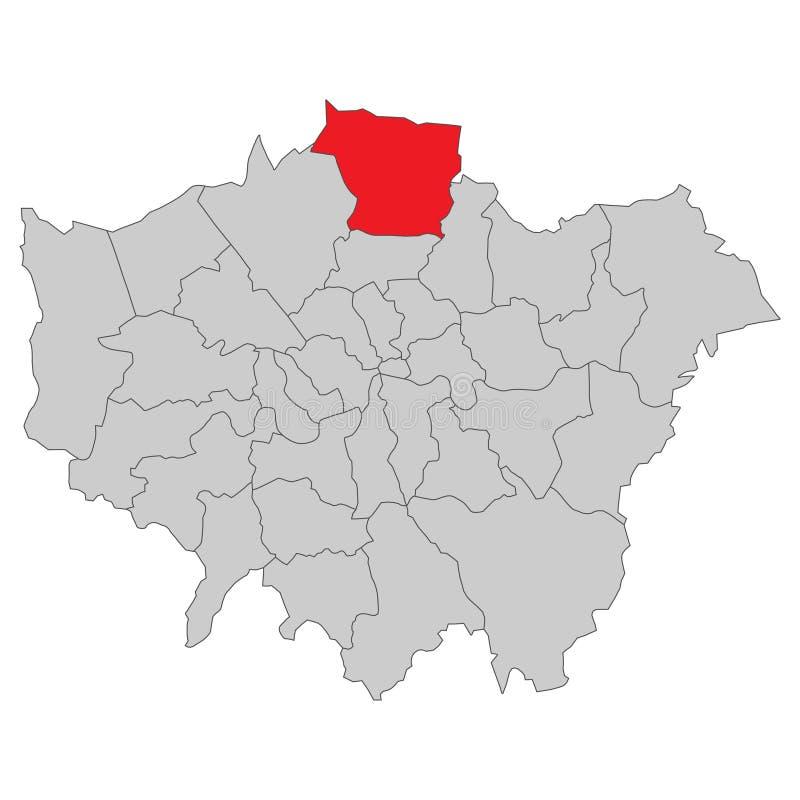 Storbritannien - översikt av London - högt detaljerat stock illustrationer
