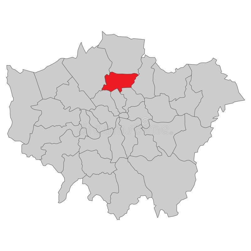 Storbritannien - översikt av London - högt detaljerat vektor illustrationer
