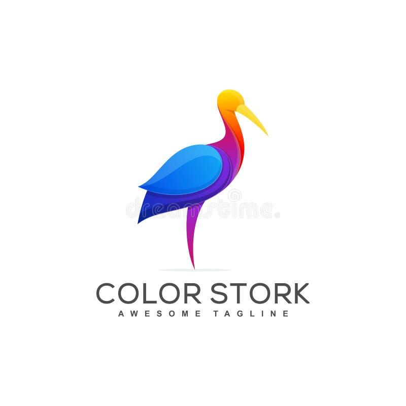 Storch-Konzeptillustrations-Vektorschablone stock abbildung