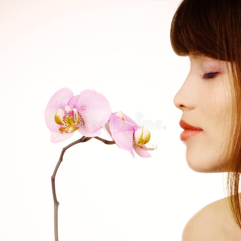 storczykowa kobieta zdjęcie stock