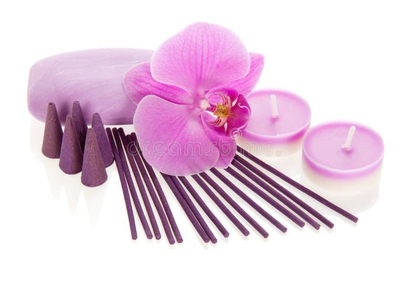Download Storczykowy Kwiat, Aromatyczny Set I Mydło, Obraz Stock - Obraz złożonej z aromaty, relaks: 41954291