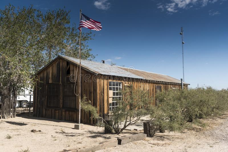 Store at Cima Station Mojave Preserve. Cima is a small unincorporated community in the Mojave Desert of San Bernardino County, California, in the United States stock photography