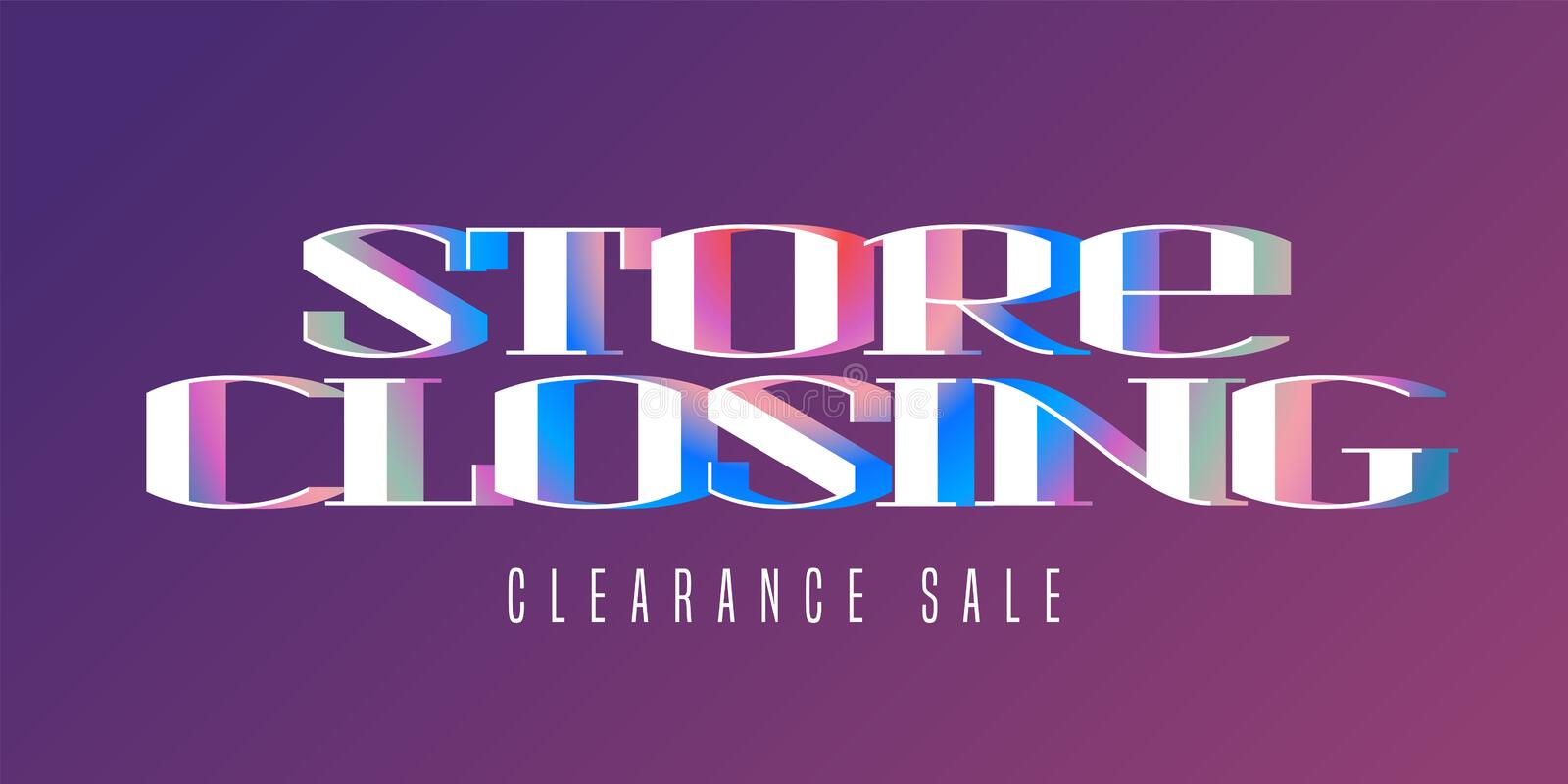 store closing sale vector illustration background with geometric