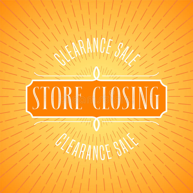 store closing sale vector illustration background with lettering