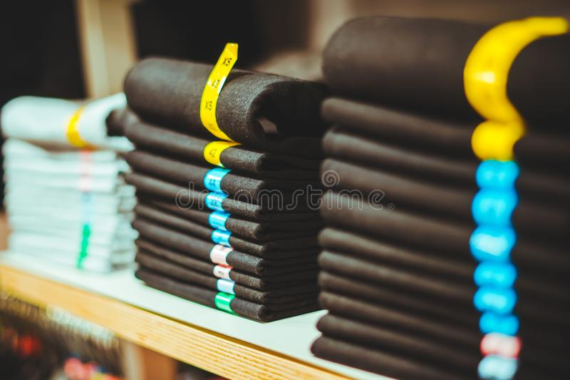 The store is clothes stock photos