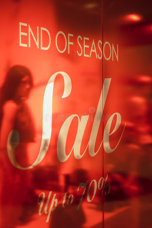Free Store End Of Season Sale Signs Stock Photography - 58083632