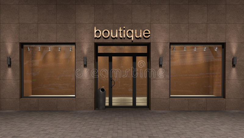 Store exterior,. 3d illustration business concept royalty free illustration