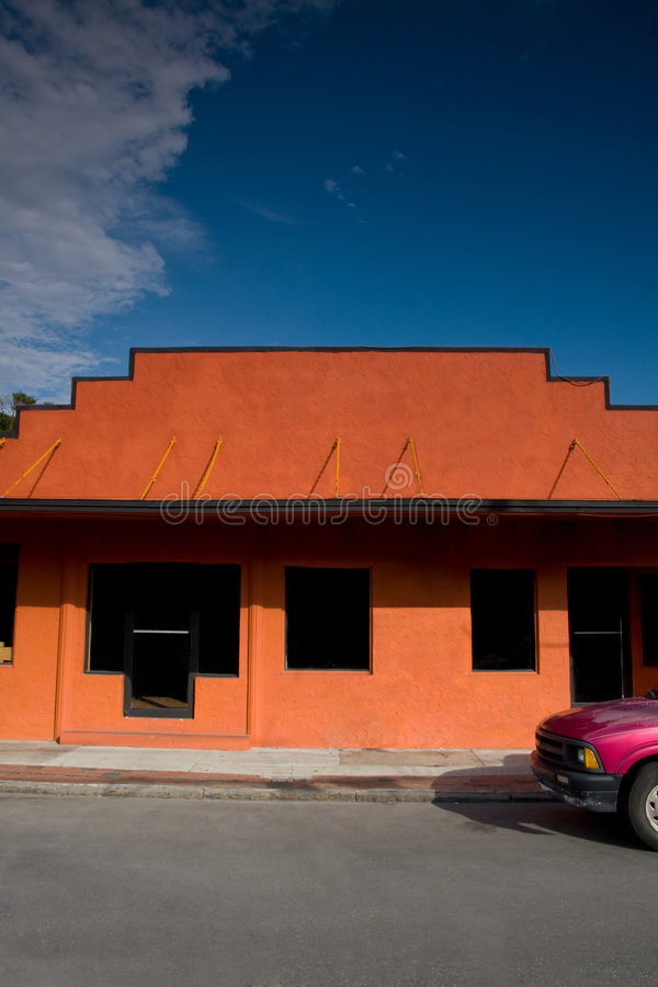 Store Facade with Truck Front End royalty free stock photo