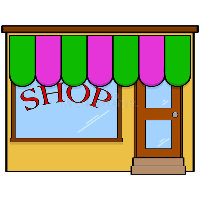 Download Store front stock vector. Image of drawing, service, sell - 38114551