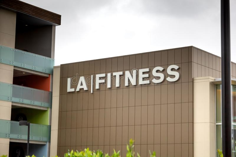 LA Fitness sign royalty free stock image