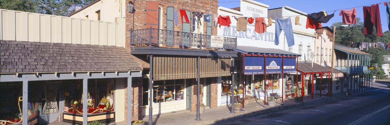 Store Fronts. In Angels Camp, California royalty free stock image