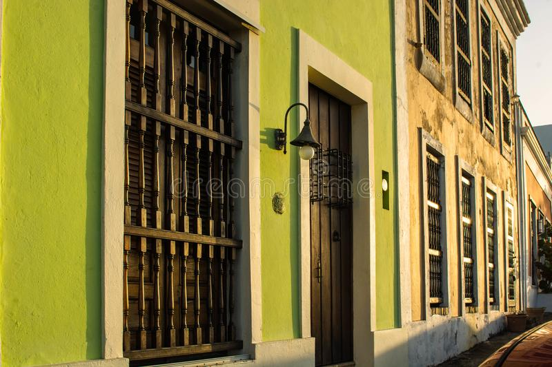 Store Fronts in San Juan, PR stock image