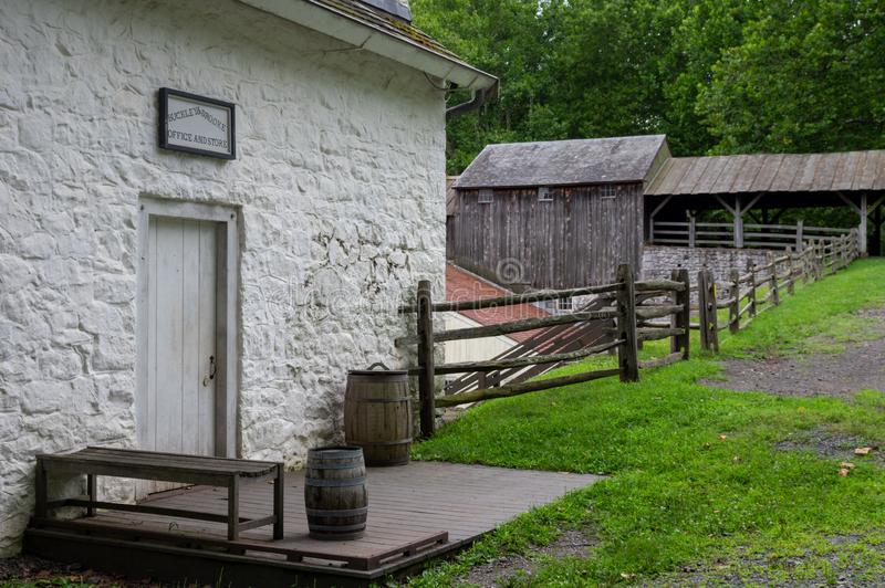 Store at Hopewell Iron Furnace. Outside the store at the Historical Hopewell Iron Furnace royalty free stock image