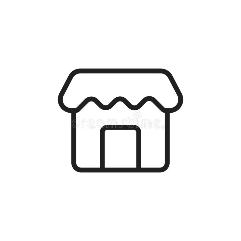 store icon. Simple thin line, outline vector of Web icons for UI and UX, website or mobile application vector illustration